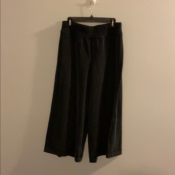 Lululemon casual wide leg (with side slits) pant.
